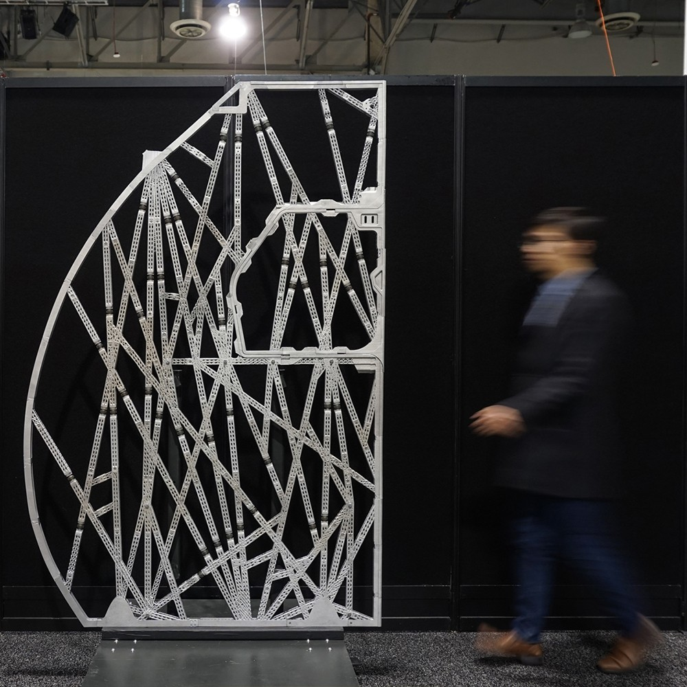 3d printed and optimized architectural structure